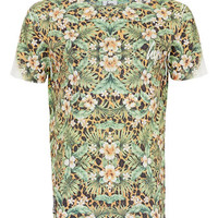 HYPE CHEETAH FLOWER T-SHIRT*