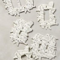 Treetop Wall Plate Cover by Anthropologie in White Size: