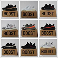 Tagre™ 2017 Adidas Originals Yeezy 350 Boost V2 Beluga Sply-350 Black White Black Peach Men Women Running Shoes Kanye West Yezzy