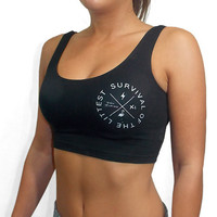 Survival of The Littest Sports Crop Top