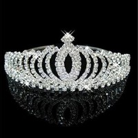 Bridal Bridesmaid Crystal Rhinestone Crown Tiara Headband Wedding Party Prom [7981375623]