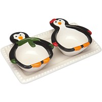 Penguin Party Ceramic Serving Set