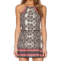 Michael Stars Halter Dress in Black & White