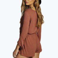 Georgie Bell Sleeve 70's Style Playsuit