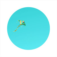 Kite Photography, Kids Room Photography, Blue Sky, Colourful, LIMITED EDITION Circle Photo, Open Edition 8 x 8 Square Photo, Nursery Decor