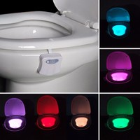 Multi-Color LED Motion Activated Toilet Light