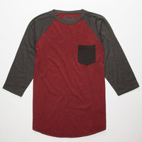 Retrofit Tri Color Mens Baseball Tee Red  In Sizes