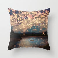 Love Wish Lanterns Throw Pillow by Belle13   Society6