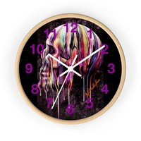 "MV Collection ""Dripping Skull"" Wall Clock"