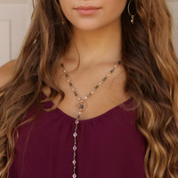 Park Date Necklace With Wooded Beads