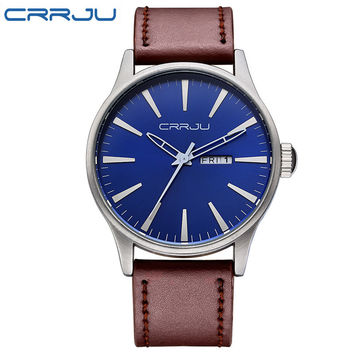 CRRJU Mens Military Style 2016 Business Watch Casual Mens Watches Top Brand Luxury quartz-watch Wristwatches relogio masculino