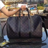 Beauty Ticks Lv Louis Vuitton Lv New Hot Fashion Monogram Leather Keepall 50 Travel Bag #3624