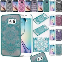 For Samsung Galaxy S6 / S6 Edge Lace TPU Hard Slim Back Case Skin Phone Cover