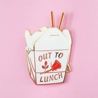 Out To Lunch Pin