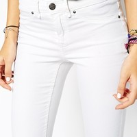 Blend Winter White Skinny Jeans With Ripped Knees