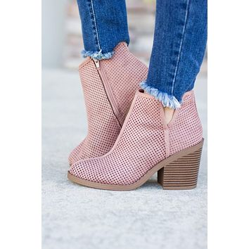 Not So Blush Bootie