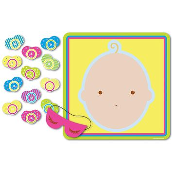 "Beistle 66675 Pin The Pacifier Baby Shower Game, 17"" x 18.5"", 1 piece"