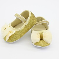 Baby Shoes Elegant First Walkers Baby Shoes For Infant Girls Kids Footwear Baby Girl Shoes with Headband Infant