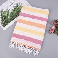 Bath Towels For Adults Cotton Turkish Simple Striped Pattern Beach Towel Dyed Jacquard Towel Bath Fringed Cotton Linen Towel