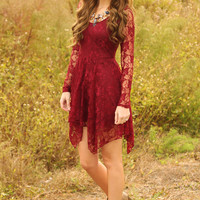 Symptoms Of Love Dress: Burgundy