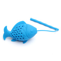 Diffuser Strainer Kawaii fish Design Food grade Silicone Loose Tea Leaf Strainer Herbal Spice Infuser Filter