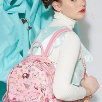 Pastel Pink Pizza Backpack