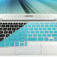 "GMYLE(R) Turquoise Blue Silicon Keyboard Cover (US Layout) for Samsung ARM 11.6"" Chromebook Series 3 XE303C12 (Do Not Fit For Samsung Chromebook 2)"