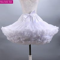 Free shipping High quality 2017 new short  party dress petticoat cosplay dress petticoat White petticoat
