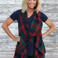 When The Leaves Fall Plaid Vest ~ Hunter Green ~ Sizes 4-10