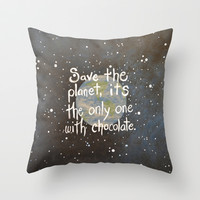It's the only one with chocolate. Throw Pillow by Amy Giacomelli