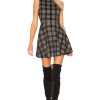 Alice + Olivia Monah Dress in Black & White
