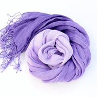Ombre Scarf in shades of purple lilac
