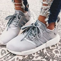 "Adidas NMD_R1 W ""SILVER METAL"" Gym shoes"