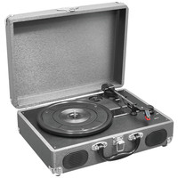 Pyle Home Retro Belt-drive Turntable With Usb-to-pc Connection (gray)