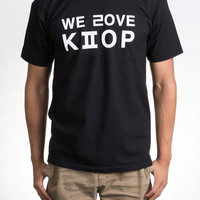 We Love Kpop (BLACK) | KORE Limited | 213 Hats | Korean TShirts | Korean Clothes | Korean Hats