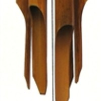 Bamboo Wind Chime Blue Ring