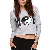 Married to the Mob Ying Yang Cropped Crew Fleece at PacSun.com
