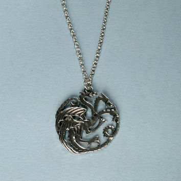 Game Of Thrones Inspired Targaryen Charms Dragon Pendant Daenerys Necklace
