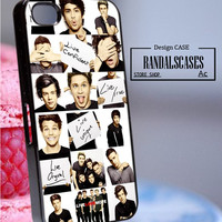 Rc801Z17_Funny 1D, One Direction Collage,music - Accessories iPhone - design print for iPhone 5C - White Case - Material Hard Plastic (PC)