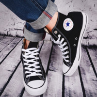 """""""Converse"""" Fashion Canvas Flats Sneakers Sport Shoes Hight top Black"""