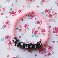 Mermaid Pastel Pink Stretch Bracelet