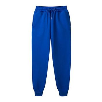 Male Trousers Casual Pants Sweatpants Jogger Casual GYMS Fitness Workout Sweatpants