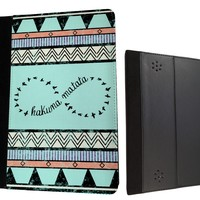 "Vintage Shabby Chic Aztec Hakuna Martata Infinity Cute Amazon Kindle Fire HD 7"" 1st generation 2012Leather full Case Flip Cover"