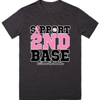 Sporty Support 2nd Base For Breast Cancer Awareness Shirts