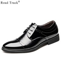 Road Track Leather Men Dress Shoes High Quality Shoes For Men Lace-Up Business Men Shoes Brand Wedding Shoes