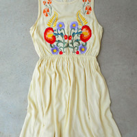 Embroidered Sweetshrub Dress