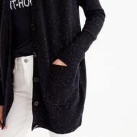 Long Donegal cardigan sweater