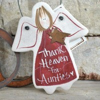 Birthday Gift for Aunt, Mother's Day Gifts  Salt Dough Ornament