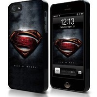 Superman Man of Steel iPhone 4 4S Hard Plastic Case with Aluminum Back