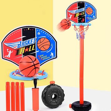 Basketball Hoop Set Adjustable Portable Basketball Stand Sport Game Play Set Toy Indoor Outdoor Basketball Play Sets for Kids